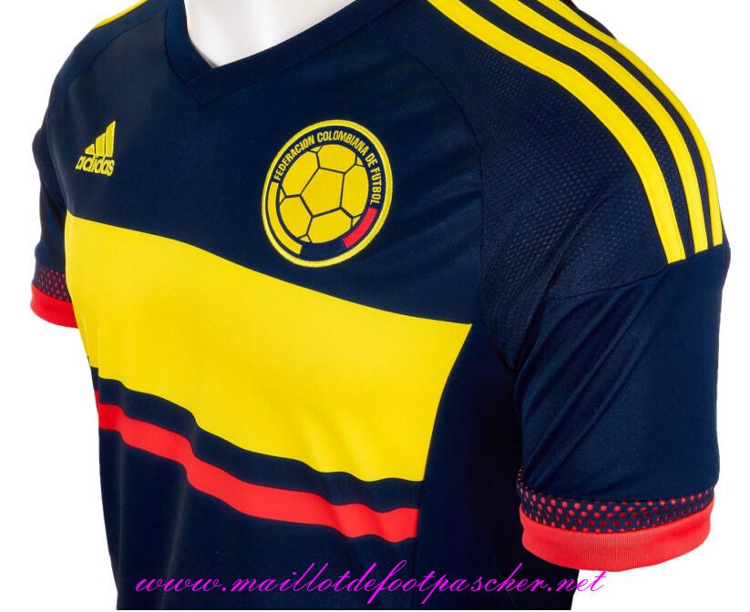 the official maillot de foot colombie femme exterieur bleu jaune 2015 2016 r. Black Bedroom Furniture Sets. Home Design Ideas
