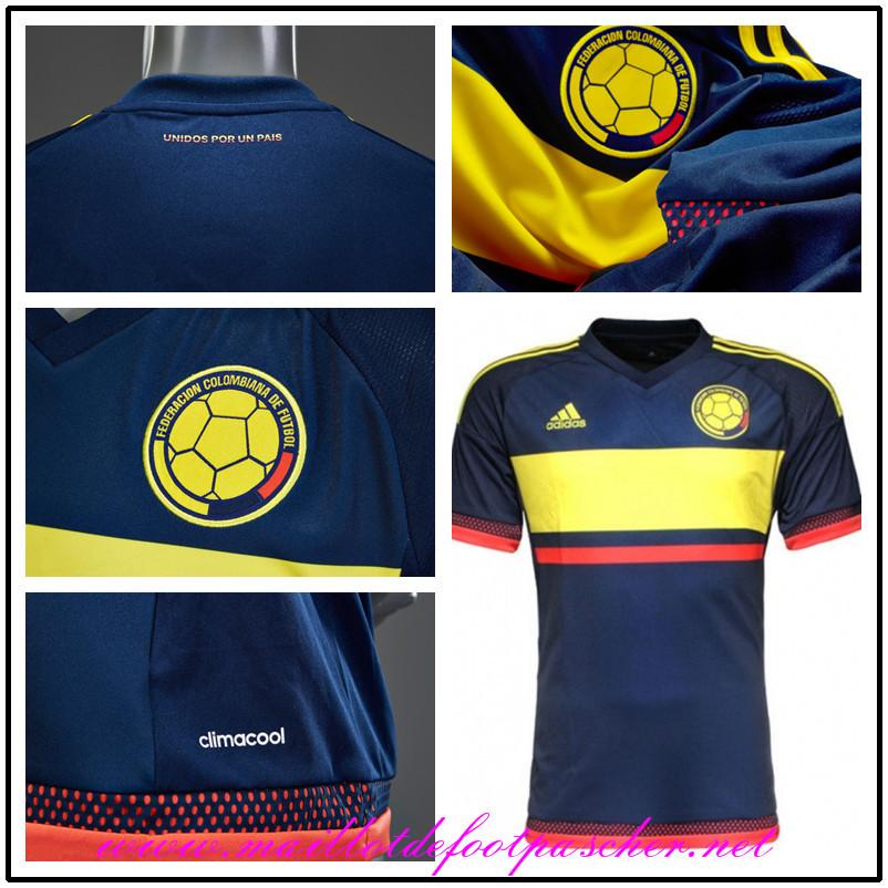 nouveau maillot foot colombie 2015 exterieur pas cher. Black Bedroom Furniture Sets. Home Design Ideas