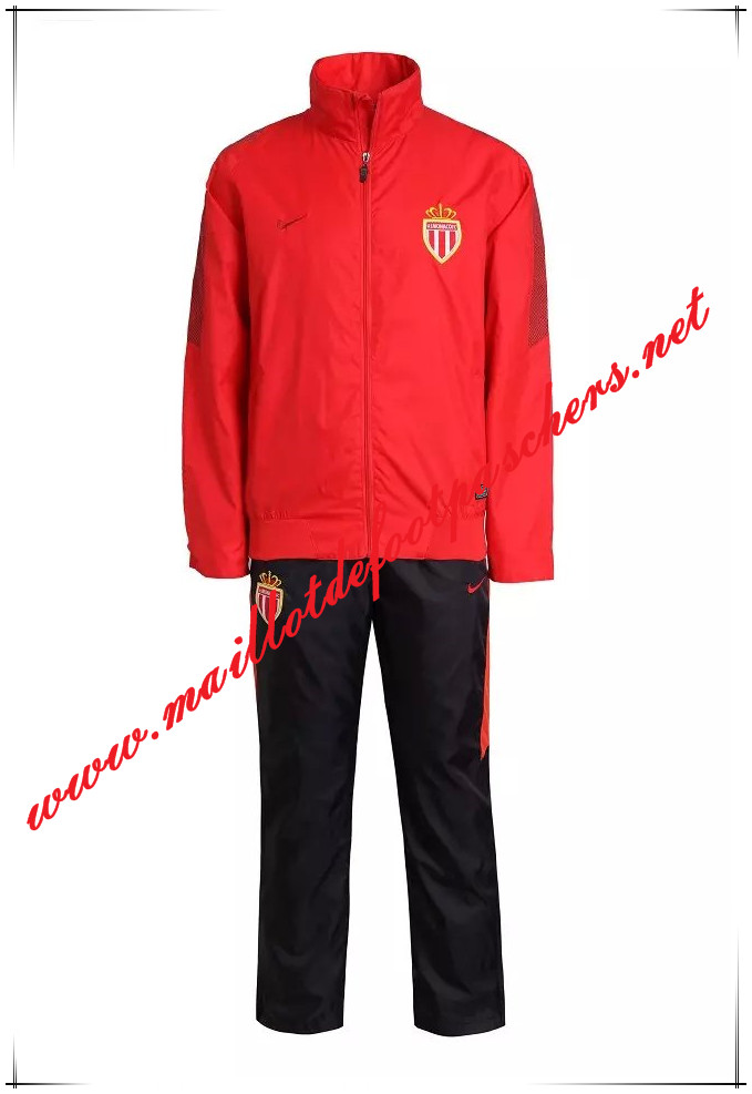 Officiel Nouveau Coupe Vent AS Monaco Rouge kit Homme 2015 2016