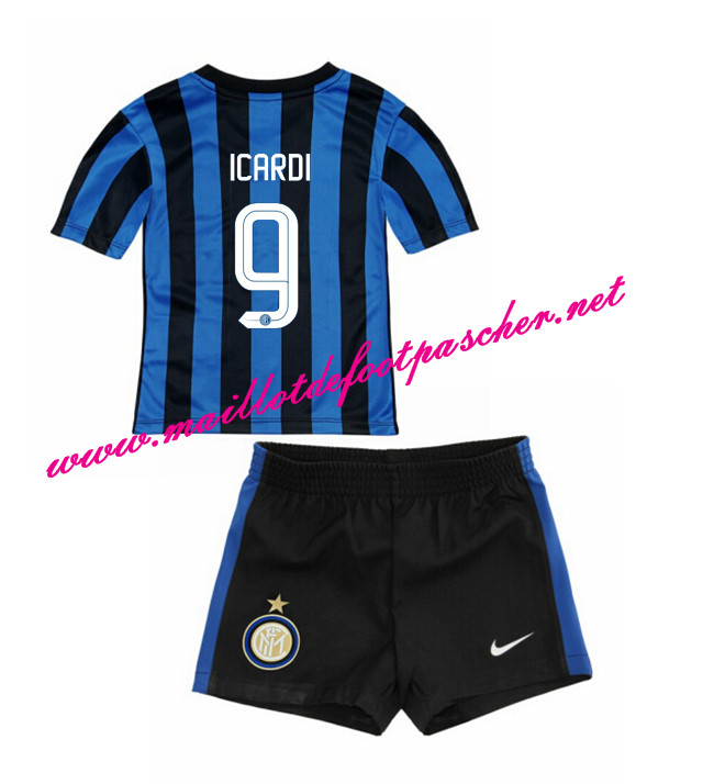 nouveau maillot de foot inter milan enfant domicile 2015 2016 9 icardi pas cher. Black Bedroom Furniture Sets. Home Design Ideas