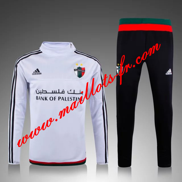 maillots-fr: Survetement de foot Palestine Blanc 2015 2016