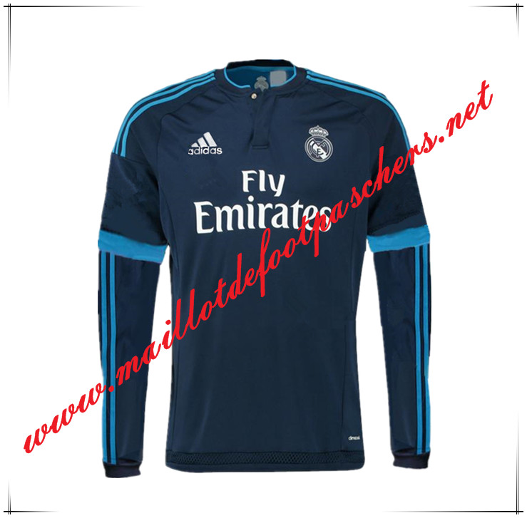 Nouveau Maillot foot Real Madrid Manche Longue Third 2015 2016