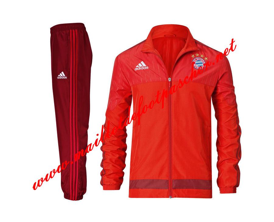 Nouveau Veste de Bayern Munich Rouge N98 Homme 2015 2016