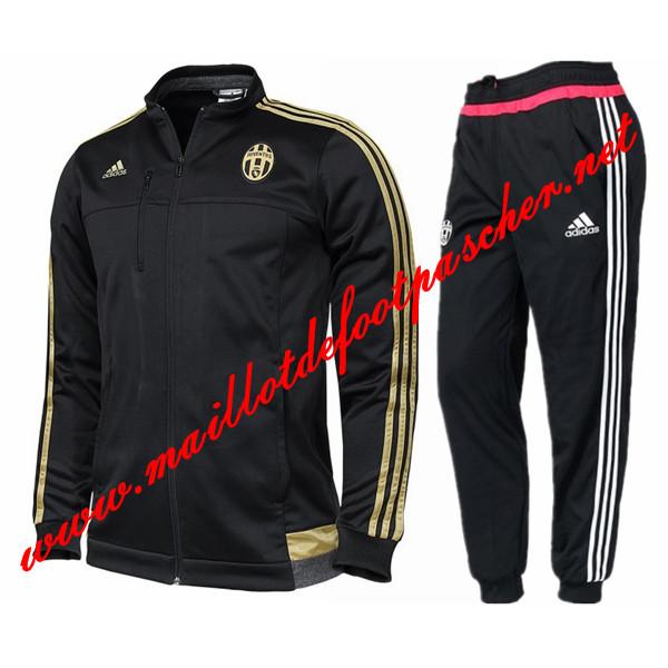 Nouveau Veste de Juventus Noir N98 Homme 2015 2016