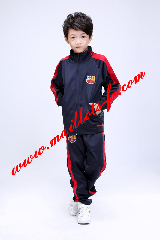maillots-fr Survetement Barcelone Enfant kit Le bleu Marine 2015 2016