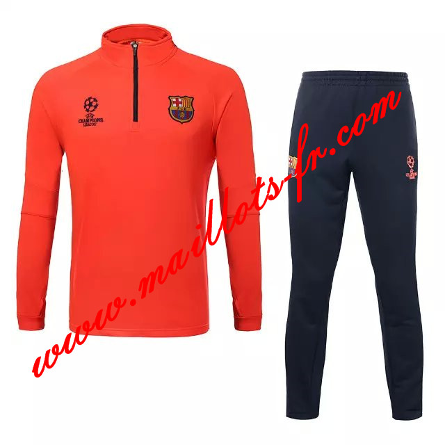 maillots-fr Survetement Barcelone Enfant kit Orange 2015 2016