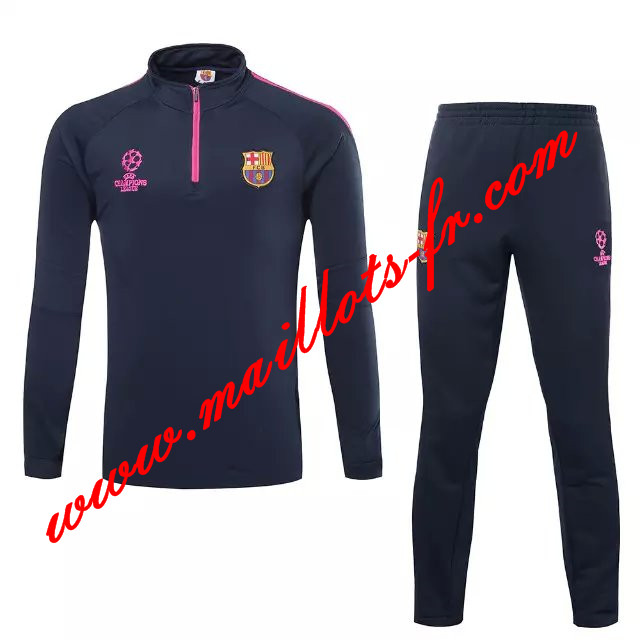 maillots-fr Survetement Barcelone Enfant kit Le bleu Marine 2015 2016 -02