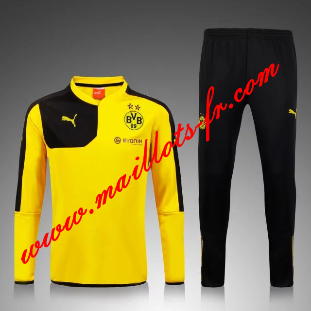 maillots-fr Survetement de foot Dortmund BVB Enfant kit Jaune 2015 2016