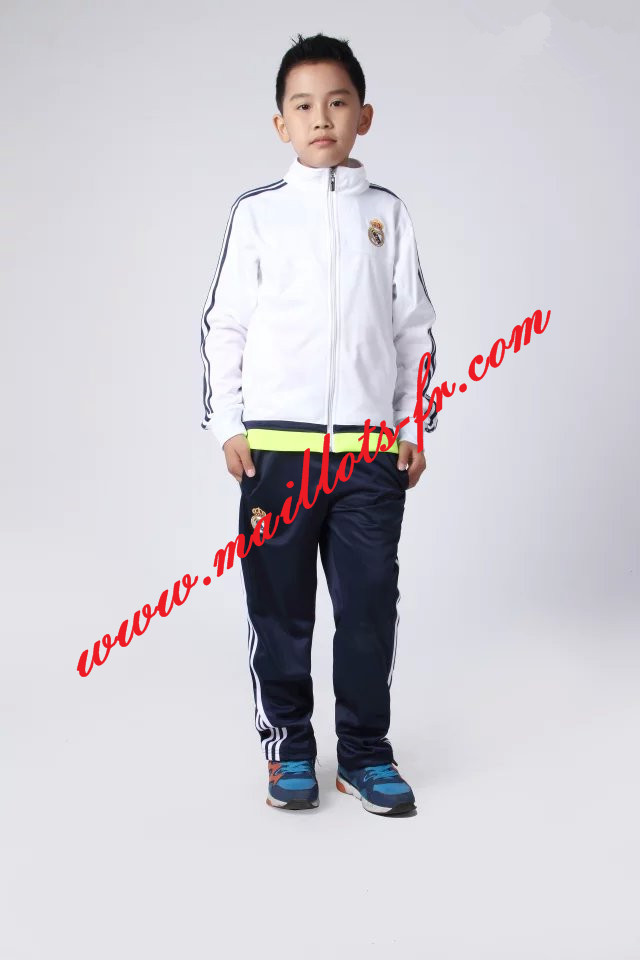 maillots-fr: Survetement de foot Real Madrid Enfant Blanc 2015 2016