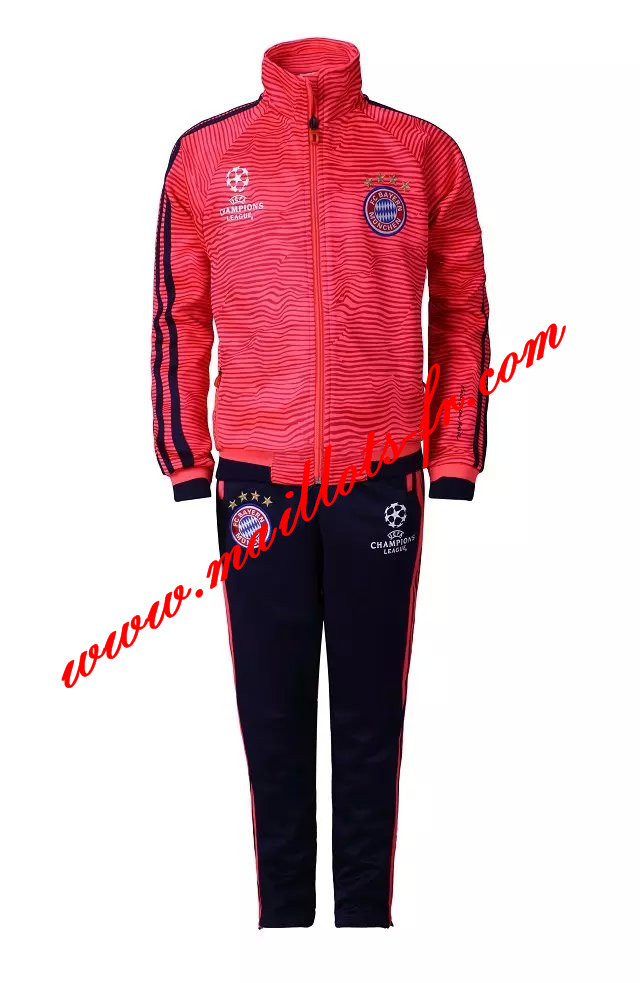 dc87fd6b5d1 maillots-fr  Champions League Survetement de foot Bayern Munich Enfant  Rouge 2015 2016