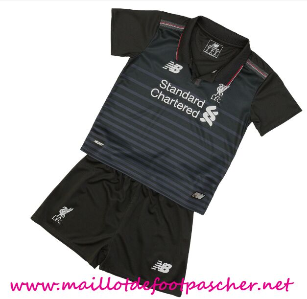 maillots-fr: Premier League Nouveau Maillot foot Liverpool Enfant 2015 2016 Saison Third