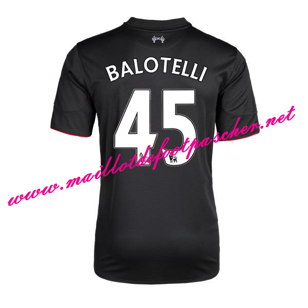 maillots-fr: Premier League Nouveau Maillot foot Liverpool (BALOTELLI 45) Third 2015 2016 Saison