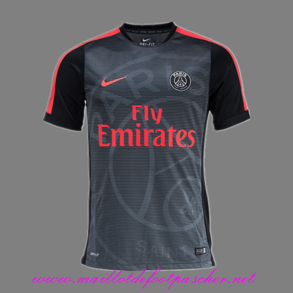 magasin de training de foot psg pre match noir rouge 2015 2016 personnalise. Black Bedroom Furniture Sets. Home Design Ideas