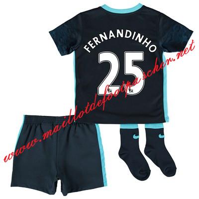 Maillot Extérieur Manchester City Fernandinho