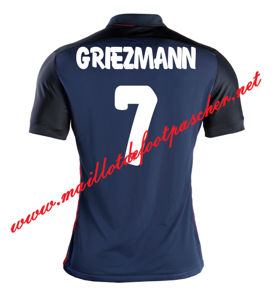 maillot de foot atletico madrid griezmann 7 exterieur 15 16 pas cher. Black Bedroom Furniture Sets. Home Design Ideas