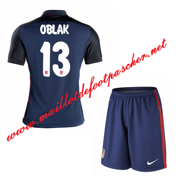 maillot de foot atletico madrid enfant oblak 13 exterieur 15 16 pas cher. Black Bedroom Furniture Sets. Home Design Ideas