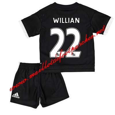 maillots-fr: Premier League Nouveau Maillot FC Chelsea Enfant (WILLIAN 22) Third 2015/2016