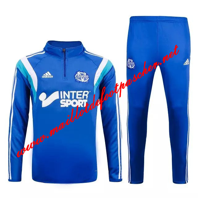 maillots-fr: Nouveau Survetement de foot Marseille OM Blue 2015 2016