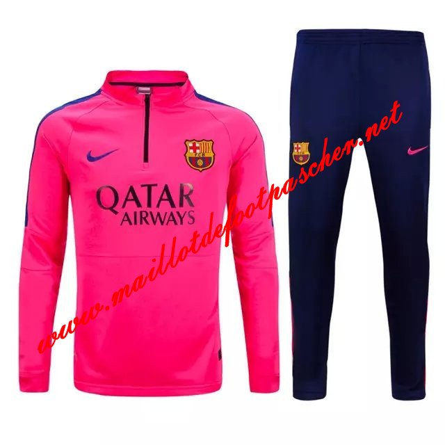 maillots-fr: Nouveau Survetement de foot FC Barcelone Rose 2015 2016