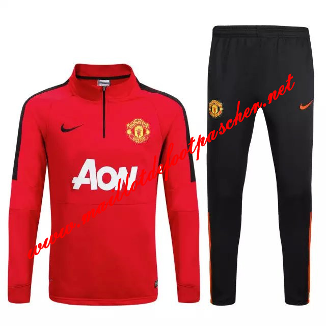 maillots-fr: Nouveau Survetement de foot Manchester United Rouge 2015 2016
