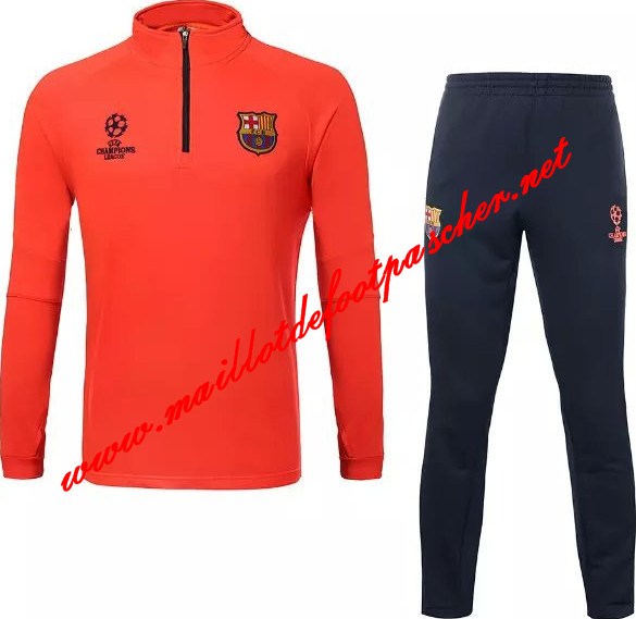 maillots-fr: Nouveau Survetement de foot Barcelone Orange 2015 2016