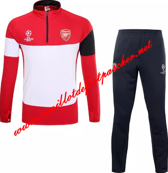 maillots-fr: Nouveau Survetement de foot Arsenal Rouge/Blanc 2015 2016