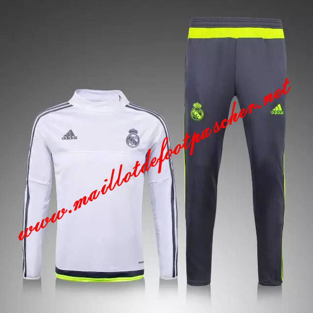 maillots-fr: Nouveau Survetement de foot Real Madrid Bleu tirette 2015 2016