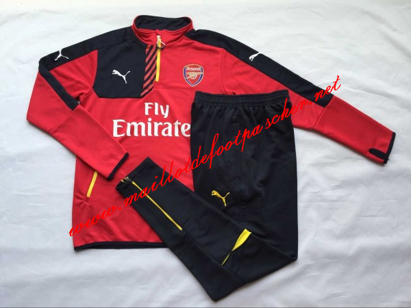maillots-fr: Nouveau Survetement de foot Arsenal Rouge 2015 2016