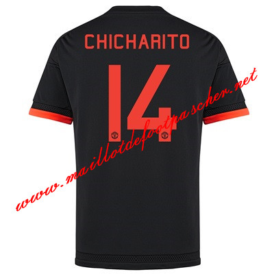 maillots-fr: Premier League Nouveau Maillot foot Manchester United (Chicharito 14) Third 2015 2016
