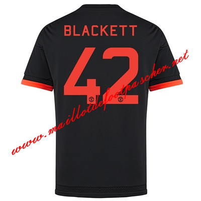 maillots-fr: Premier League Nouveau Maillot foot Manchester United (Blackett 42) Third 2015 2016