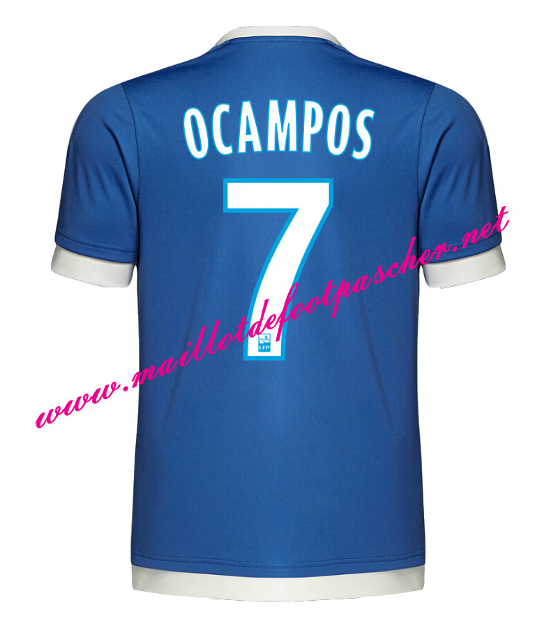 maillots-fr: Officiel Nouveau Maillot foot Marseille Third 2015 2016 (OCAMPOS 7)
