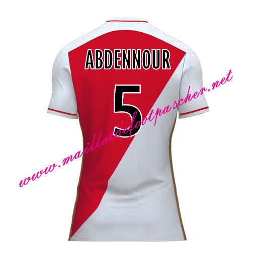 maillots-fr: Officiel Nouveau Maillot foot AS Monaco Domicile 2015 2016 (ABDENNOUR 5)