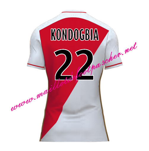 maillots-fr: Officiel Nouveau Maillot foot AS Monaco Domicile 2015 2016 (KONDOGBIA 22)