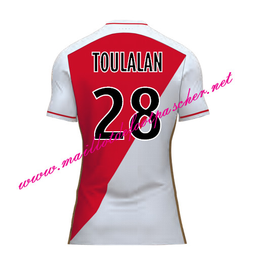 maillots-fr: Officiel Nouveau Maillot foot AS Monaco Domicile 2015 2016 (TOULALAN 28)
