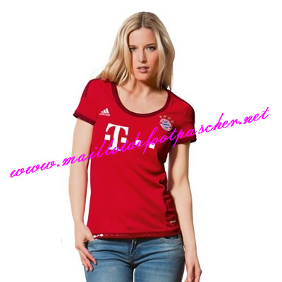 maillotdefootpascher maillot de foot bayern munich femme domicile 2015 2016. Black Bedroom Furniture Sets. Home Design Ideas