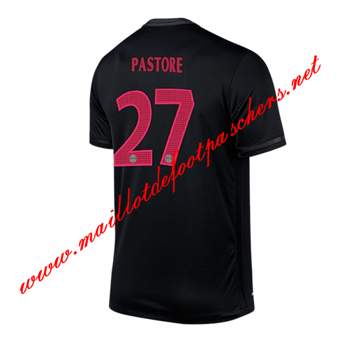 maillots-fr: Ligue 1 Maillot foot PSG (PASTORE 27) Third 2015 2016