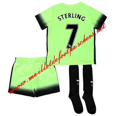maillots-fr: Premier League Maillot foot Manchester City Enfant (Sterling 7) Third 2015/2016