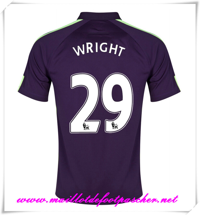 maillots-fr: Premier League Nouveau Maillot foot Manchester City Third 2014 2015 Saison (Wright 29)