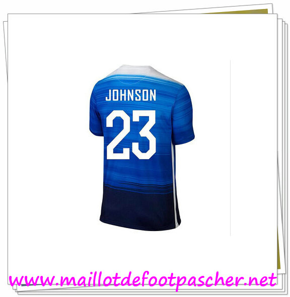 maillots-fr: Officiel Nouveau Maillot foot USA Domicile 23 Johnson Bleu 2015 2016
