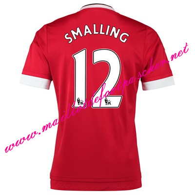 maillots-fr: Officiel Nouveau Maillot foot Manchester United Domicile 12 Smalling 2015 2016