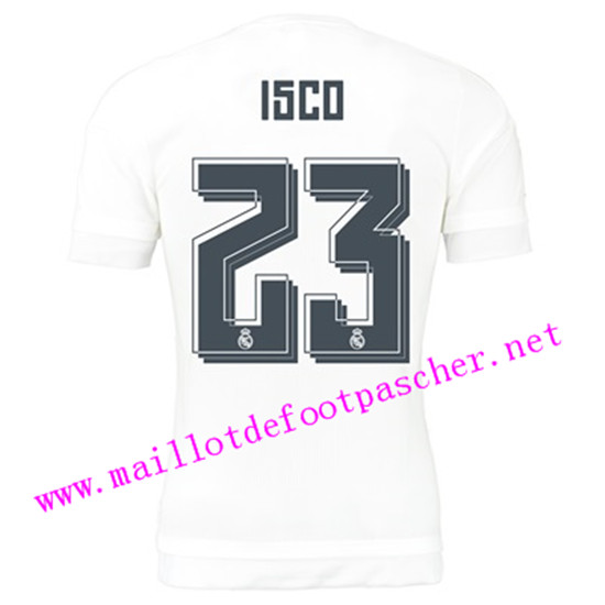 maillots-fr: Officiel Nouveau Maillot foot Real Madrid Domicile 23 Isco 2015 2016
