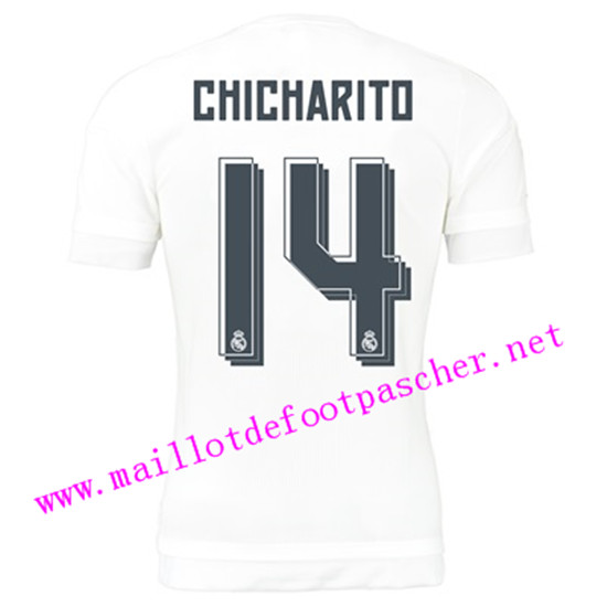 maillots-fr: Officiel Nouveau Maillot foot Real Madrid Domicile 14 Chicharito 2015 2016