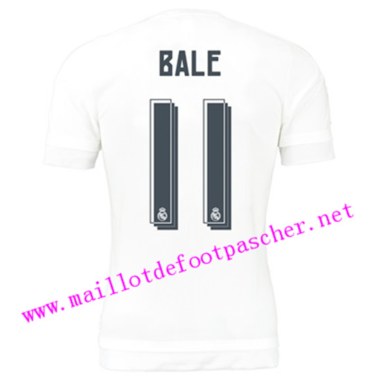 maillots-fr: Officiel Nouveau Maillot foot Real Madrid Domicile 11 Bale 2015 2016