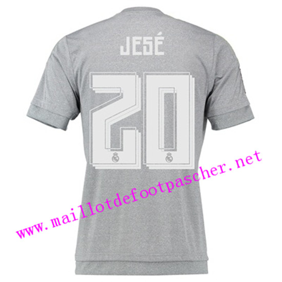maillots-fr: Officiel Nouveau Maillot foot Real Madrid Exterieur 20 Jese 2015 2016
