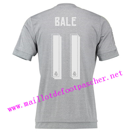 maillots-fr: Officiel Nouveau Maillot foot Real Madrid Exterieur 11 Bale 2015 2016