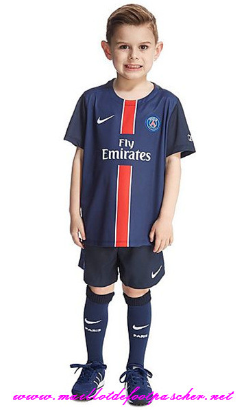 achetez officiel nouveau maillot foot psg enfant domicile 2015 2016 discount online. Black Bedroom Furniture Sets. Home Design Ideas