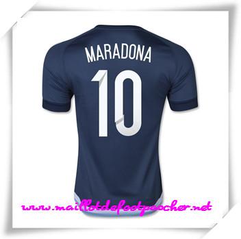6293a82dcf3f7 maillots-fr: Officiel Nouveau Maillot foot Argentine (Maradona 10) 2015  Exterieur Manche