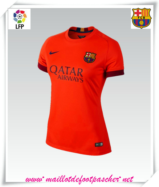 La liga nouveau maillot barcelone femme exterieur 2014 for Maillot exterieur barcelone 2014