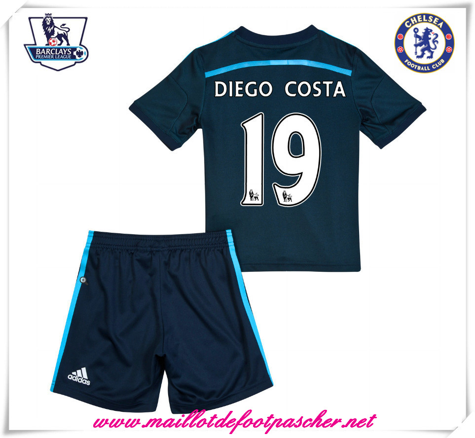 maillots-fr: Maillot foot Chelsea Enfant Third 2014 2015 Saison (Diego Costa 19)