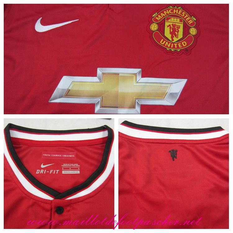 premier league nouveau maillot manchester united jones 4 domicile 2014 2015 prix pas chere. Black Bedroom Furniture Sets. Home Design Ideas